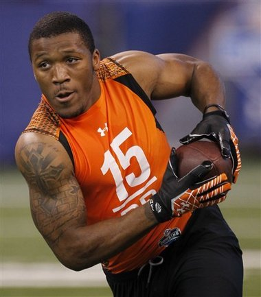 LeMichael James at last year's combine